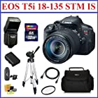 Canon EOS Rebel T5i Digital SLR Camera & EF-S 18-135mm IS STM Lens Pro Bundle with 32GB SDHC Memory Card, Card Reader, Camera Bag, Flash, Full Size Tripod, Mini HDMI Cable, 67mm UV Protection Filter, Extra Battery and Lens Cleaning Kit