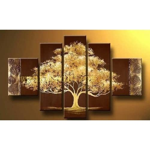 100 hand painted oil painting 5 pieces for House decoration pieces