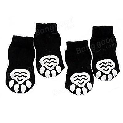 Coeus Schwarz Skeleton Patten Flachstrick Cotton Pet Gummi-Pads Socken von Coeus Home - Gartenmöbel von Du und Dein Garten