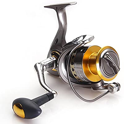 Eveangler Smooth Multi-disk Drag System Spinning Reel Baitfeeder Interchangeable Handle Saltwater/Freshwater by Eveangler
