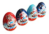 Kinder Surprise Maxi Egg Chocolate 100 g Christmas (pack of 4)
