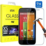 Motorola Moto G Tempered Glass Screen Protector, Motorola Moto G (1st Gen.) Screen Protector,UTLK 0.3mm Ultra Thin High Definition 9H Hardness 2.5D Round Edge Premium Tempered Glass Screen Protector For Motorola Moto G / Moto G (1st Generation) 4.5 Inch Screen With Anti-Scratch Shatterproof Anti-Fingerprint Water & Oil Resistant Function (Motorola Moto G 1st Gen.)