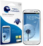 Tech Armor Samsung Galaxy S3 SIII Premium High Definition (HD) Clear Screen Protectors with Lifetime Warranty