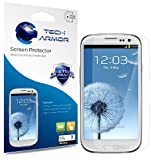 Tech Armor HD Clear Screen Protectors with Lifetime Replacement Warranty for Samsung Galaxy S3 S III Smartphone [3-PACK]