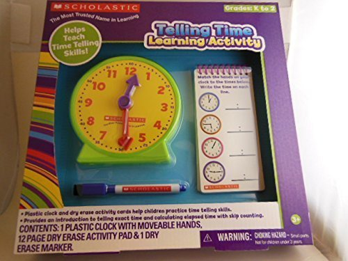 Scholastic Dry Erase Learning Pad - Telling Time - 1