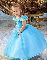 2015 NEW Cinderella dress blue Ella 's princess dress Costume butterfly girl