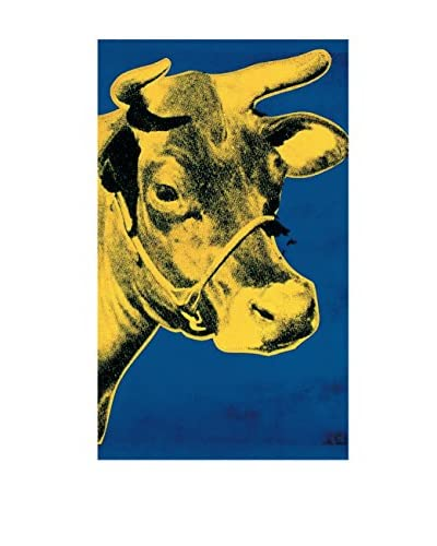 "Andy Warhol ""Cow Yellow on Blue Background (Sm)"" 1989 Unframed Poster, Blue/Yellow"