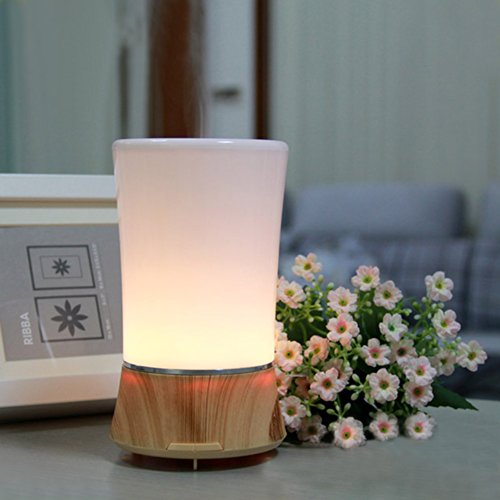 Eiiox 150Ml Ultrasonic Aroma Essential Oil Diffuser Aroma Atomizer Air Humidifier,Wooden Base front-971146