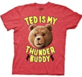 Ted T-shirt Movie Ted is My Thunder Buddy Adult Red Heather Tee Shirt
