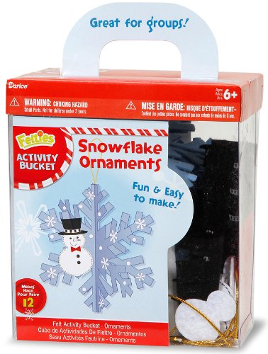 Felties Felt Ornament Kit - Snowflake - Makes 12