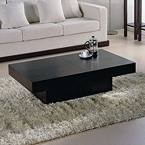 Nile Rectangular Storage Coffee Table in Wenge