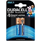 Duracell Ultra Alkaline Battery AAA With Duralock Technology And PowerCheck (2 Pieces)