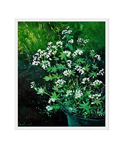 "Pol Ledent ""Asperules"" Framed Reproduction Print on Canvas, Green"