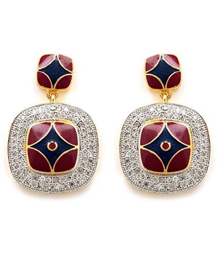 Akshim Multicolour Alloy Earrings For Women - B00NPY9H7K