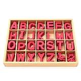 アルファベット 切抜き 大文字セット 赤