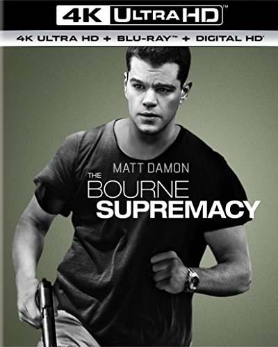 4K Blu-ray : The Bourne Supremacy (With Blu-Ray, Ultraviolet Digital Copy, 4K Mastering, 2 Pack, Snap Case)