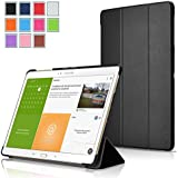 Exact Samsung Galaxy Tab S 10.5 Case [SLENDER Series] - Ultra Slim Lightweight Smart-shell Stand Case for Samsung Galaxy Tab S 10.5 (SM-T800 / SM-T805) Black