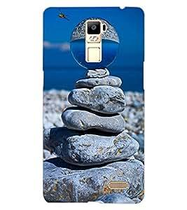 ColourCraft Creative Stone Image Design Back Case Cover for OPPO R7