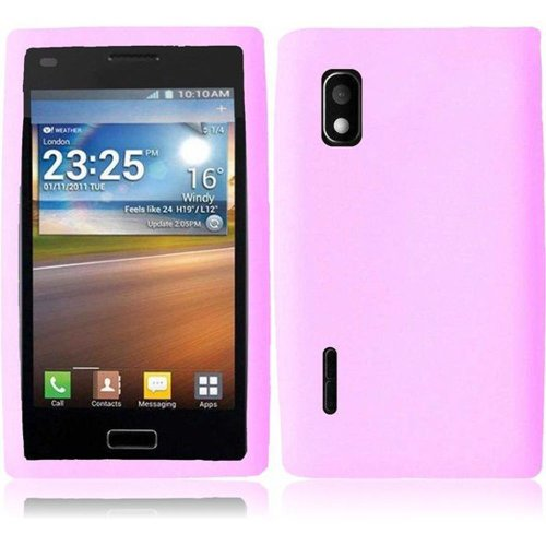 Cell Accessories For Less (Tm) For Lg Optimus Extreme 40G Silicone Skin Cover Case - Baby Pink // Free Shipping By Thetargetbuys front-508421