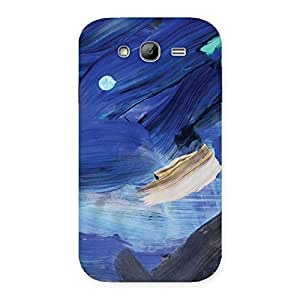 Special Blue Paint Work Print Back Case Cover for Galaxy Grand