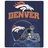 """Denver Broncos Lightweight Fleece Blanket (Reflecting Helmet, 50""""x60"""")"""