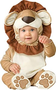 InCharacter Unisex-baby Newborn Lovable Lion Costume, Brown/Tan/Cream, Small