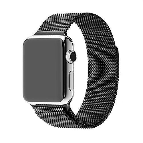 Apple-Fascia drunkqueen® Milanese, 38 mm, in acciaio INOX, cinturino bracciale Cinturino per orologio, 38 mm, Apple & Sport unico & interamente magnetiche, con chiusura con fibbia, non necessarie)