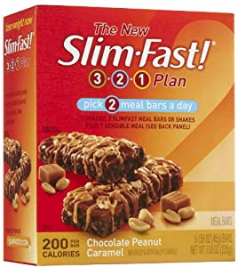 Slim-Fast 200-Calorie Meal Bars , Chocolate Peanut Butter Caramel, 5 pk
