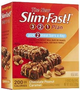 Slim-Fast 200-Calorie Meal Bars , Chocolate Peanut Butter Caramel, 5 pk