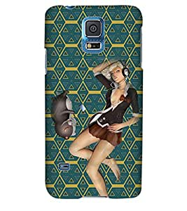 ColourCraft Girly Back Case Cover for SAMSUNG GALAXY S5