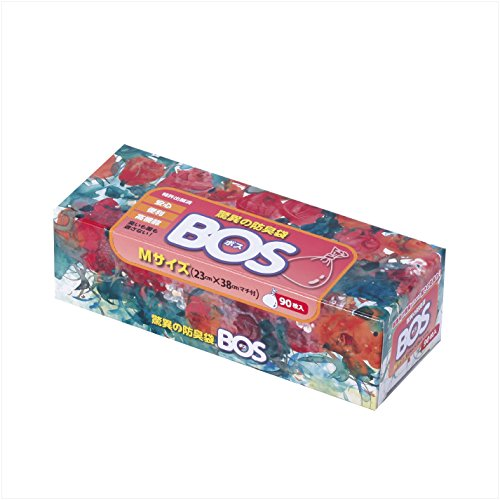 BOS, Amazing Odor-sealing Disposable Bags (90 Bags) [Size:M, Color:White]