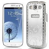 SODIAL(R) Deluxe Sliver Steel Aluminum Chrome Bling Crystal Diamond Rhinestone Hard Case Skin Cover for Samsung i9300 Galaxy S3 ~ sayyamo?