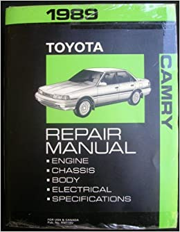 1989 toyota camry repair manual toyota books. Black Bedroom Furniture Sets. Home Design Ideas