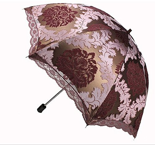 Vintage Style Parasols and Umbrellas  Parasol Umbrella Two Folding Umbrella Maroon                               $30.98 AT vintagedancer.com