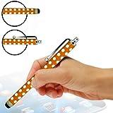 Fone-Case Alcatel One Touch S'Pop Polka Aluminium Capacitive Stylus Touch Pen (Orange)
