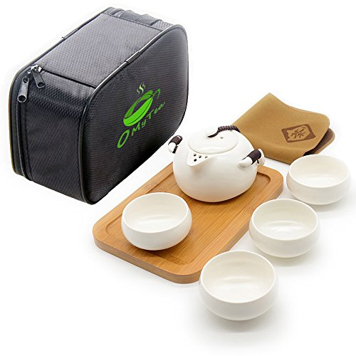 Learn More About OMyTea Handmade Chinese / Japanese Vintage Kungfu Gongfu Tea Set with a Portable Tr...