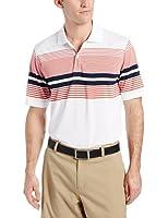 IZOD Men's Short Sleeve Engineered Stripe Jersey Golf Polo