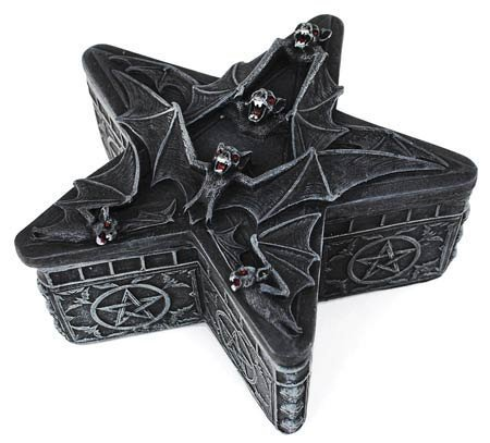 Bat Pentagram Box by PTC