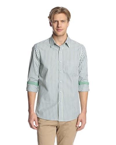 IZOD Men's Slim Fit Striped Button-Up