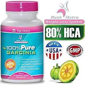 ★ NEW 80% HCA ★ 100% PURE Garcinia Cambogia Extract ★ 2310 mg per Serving ★ Rush Nutrition ★ 90 Capsules ★ Clinically Proven for Weight-Loss ★