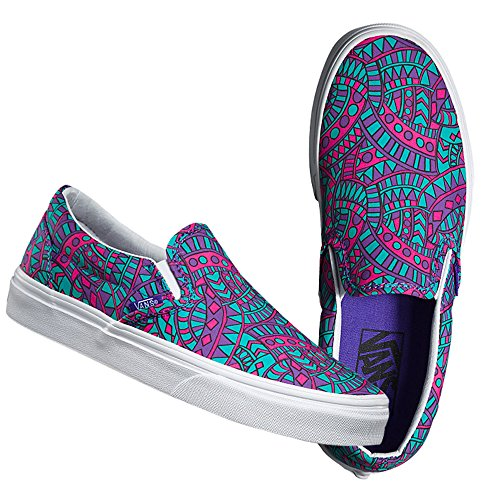 (バンズ) VANS x LIBERTY ART FABRICS 【CLASSIC SLIP-ON】 LIBERTY SLIP-ON (SATCHMO/TRUE WHITE) レディース スリッポン スニーカー コラボスニーカー VN0003Z4IG4 7.0(25.0)