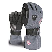 Level Butterfly Womens Gloves Medium-Large Jeans