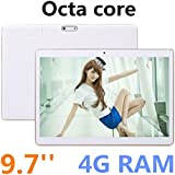 9.7 inch 8 core Octa Cores 1280X800 IPS DDR 4GB ram 32GB 8.0MP 3G Dual sim card Wcdma+GSM Tablet PC Tablets PCS Android5.1