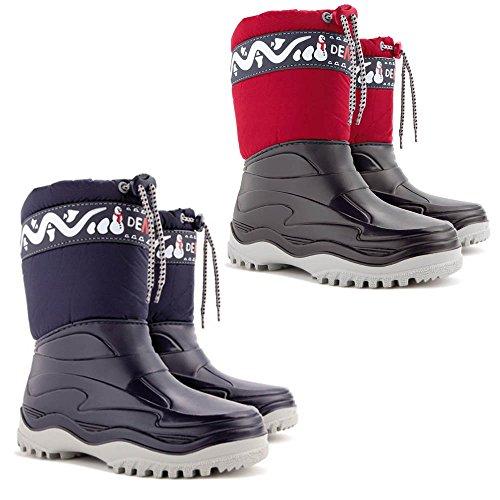 DEMAR Kinder Winterstiefel Schuhe gefüttert FROST (24/25, blau) -