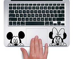 Mickey and Minnie Peeking Up Disney - Trackpad Apple Macbook Laptop Vinyl Sticker Decal