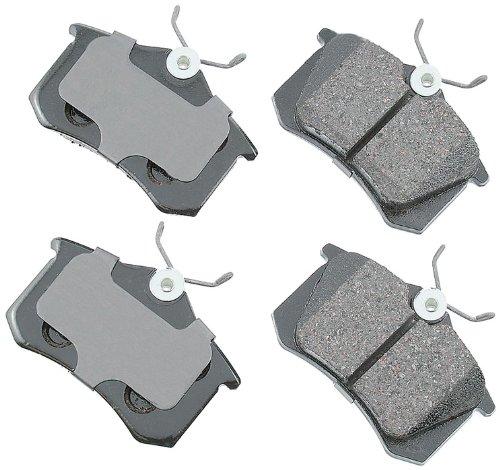 Disc Brake Pad Set-Euro Ultra Premium Ceramic Pads Rear Akebono EUR873