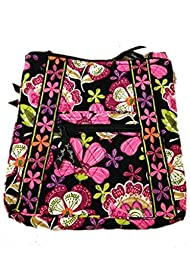 Vera Bradley Hipster in Pirouette Pink with Black Interior