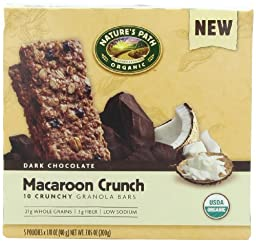 NATURE\'S PATH ORGANIC Crunchy Granola Bars, Macaroon Crunch, 7.05-Ounce (Pack of 6)