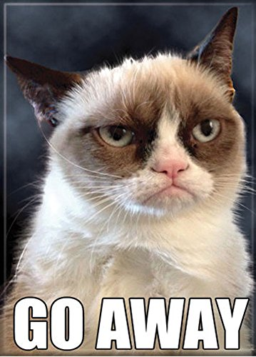 Grumpy Cat - Go Away - Refrigerator Magnet Food, Beverages ... Go Away Meme