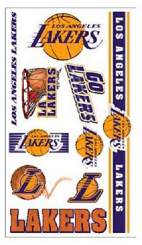 Los Angeles Lakers Temporary Tattoos 10 Pack [NEW] NBA Stickers Tattoo CDG (Lakers Cheerleading Outfit)
